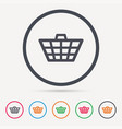 basket icon shopping cart sign vector image