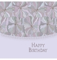 Boho style template Happy birthday card design vector image
