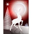 Christmas design with reindeer vector image