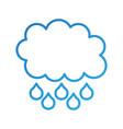 cloud rain drop weather climate icon vector image