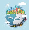 Global transportation vector image