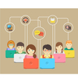 Kids and Social Networking vector image