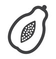 papaya solid icon fruit and tropical vector image