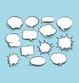 set of comic art speech bubbles with halftone vector image