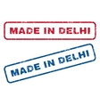 Made In Delhi Rubber Stamps vector image