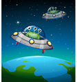 Spaceships with aliens vector image vector image