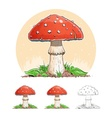 Amanita Mushroom vector image