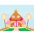 Candy house vector image