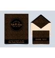 Wedding invitation card Art Deco vector image vector image