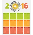 New Year Calendar 2016 on Abstract Mobile Phone vector image
