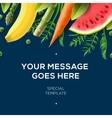 Organic food banner fresh vegetables and fruits vector image vector image