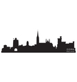 Cork Ireland skyline Detailed silhouette vector image