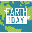 Grunge Earth Day Logo Earth day 22 April Earth day vector image