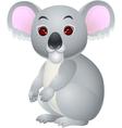 Koala cartoon sitting vector image vector image
