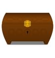 Brown casket vector image