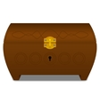 Brown casket vector image