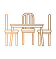 dining table and chairs vector image
