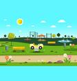 empty park - playground - city garden cartoon vector image