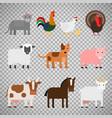 farm animals on transparent background vector image