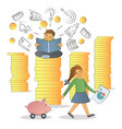 financial literacy concept vector image