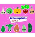 Funny Various Cartoon Vegetables Clip Art vector image