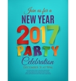 New Year 2017 party poster vector image