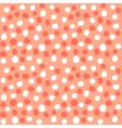 Polka dots peach hand made pattern vector image