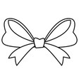 ribbon bow isolated vector image