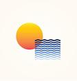 Sun Sea vector image