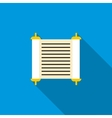 Torah scroll icon flat style vector image
