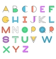 Modern alphabet Linear letters and color shapes vector image