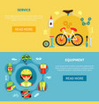 cycling banners set vector image