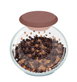 Various Kind of Coffee Beans in Glass Jar vector image vector image
