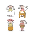 Little Girl Cartoons vector image vector image