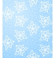 Seamless Floral Blue Background vector image vector image