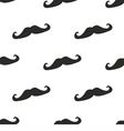 Tile pattern black mustache on white background vector image
