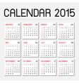 calendar 2015 01 vector image