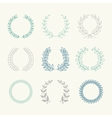 Collection of Laurels Floral Elements and vector image