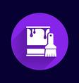 paint bucket icon button logo symbol concept vector image