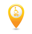toilet4 map pointer yellow drop vector image vector image