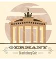 Germany landmarks Retro styled image vector image