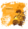 Hand drawn sketch honey background vector image