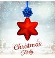 Holiday Merry Christmas party template EPS 10 vector image