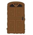 pixelated wooden door vector image