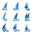 sailboat symbol vector image