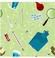 Seamless background with medical instruments vector image
