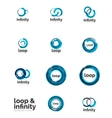 Set of infinity and loop business logos vector image
