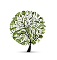 Art tree green for your design vector image vector image