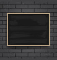 black chalkboard with wooden frame vector image