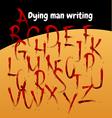 dead man writing vector image vector image